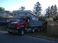 dump truck to hire,dump trucking service,soil loads removing