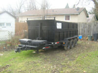 dump trailer for garbage and junk