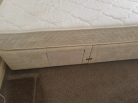 Double divan bed free local delivery from Peterlee area