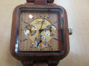 tense men's wooden watch