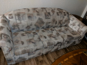 Sofa with pull out bed (clean mattress)$100