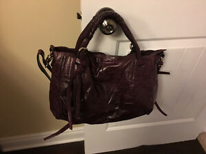 Luana Italy leather handbag burgundy Brand New!