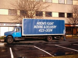 Long distance delivery truck, delivering to Maritime Provinces.