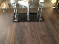 REDUCED coffee table glass top with black egs