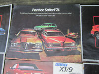 Fiero, Firebird, Camaro, Nova, Cutlass Vintage Car Brochures ..