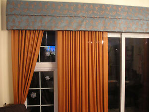 """Drapes / Curtains with Valance approx. 145"""" wide X 91.5"""" length"""