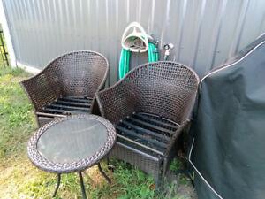 Three piece patio set...