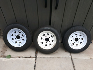 Trailer tires and rims.