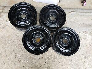 4 Black Steel Rims X42554