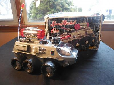 Vintage 1970s Nanyang Battery Operated Space Rocket Car w Original Box Taiwan