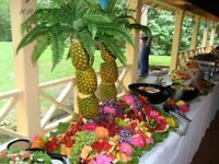 Wedding Fruit Display Palm Tree Reception Chair Cover Hire 79p Decoration Wedding £5pp Packages