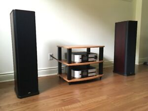 PSB Stratus Silver i , hi-fi tower speakers, haut-parleurs.