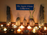 Beautiful Agate oil lamps for sale