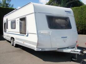 2010 FENDT 700 PLATIN,5 BERTH FIXED ISLAND BED CARAVAN WITH AWNING