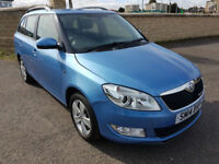 2014 SKODA FABIA TDI ESTATE, LOW MILEAGE, £ 0 ROAD TAX, FSH