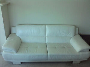 White Leather Couch - $800