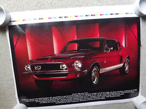"FS: ""1968 Ford Mustang GT500"" Press-Sheet Litho"