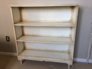 Solid Wood Mid-Century Bookcase - Antique Finished