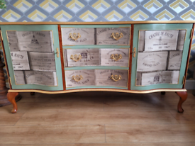Upcycled Queen Anne styled Sideboard