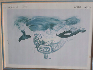 "SUE COLEMAN "" THE ORCA"" original print"