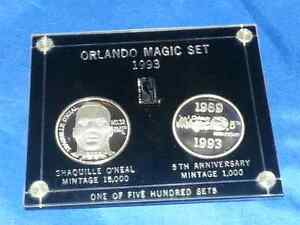 Rare Orlando Magic set 1993 NBA product official license silver