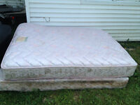 ***MATTRESSE BOX SPRING AND BED FRAME*** FREE