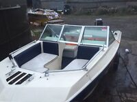 16ft Samoa bowrider boat 75hp engine (need gearbox) and snipe trailer