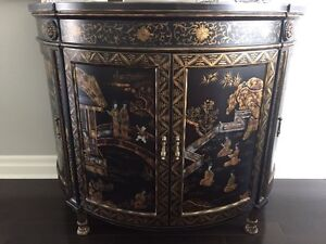 BEAUTIFUL CHINOISERIE BOW FRONT CHEST London Ontario image 1