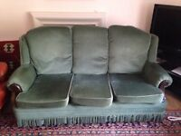 3 Seater Sofa (Dark Green)