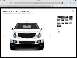 Unused Black grille to fit Cadillac SRX