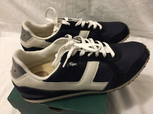Lacoste Castera Off White and Dark Blue Sneakers size 13