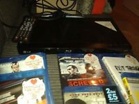 Blu ray player with 9 dvds