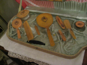 Vintage 1930's Art Deco Vanity Set in Original Box
