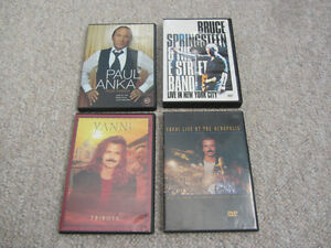 Variety of Concert DVDs - Paul Anka, Bruce Springsteen, or Yanni