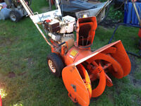 Electric and gas snowblowers