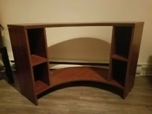 Brown TV Stand with 4 little shelves