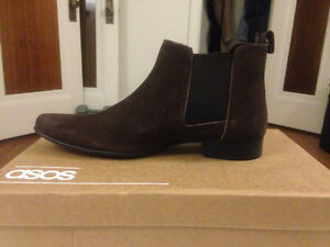 Brown Suede Chelsea Boot sizes 9 and 9.5