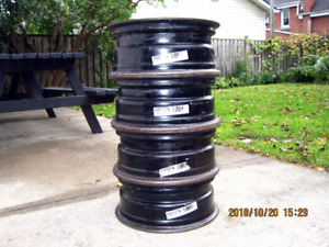 "Rims, 4 16""x 6 1/2 5-112 VW Steel Rims for Winter Tires"