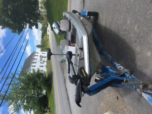 15.5 foot boat, motor and trailer