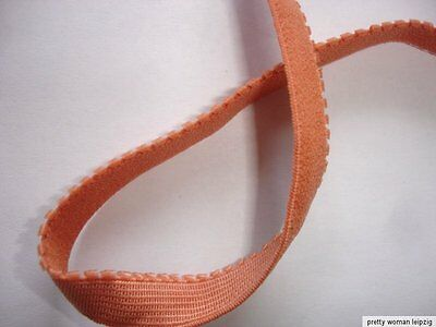 10m Gummiband 0,24€/m terrakotta Trägerband, Mäusezähnchen 10mm breit EE10