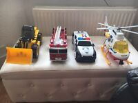 Transport toys light up and sounds
