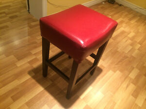 Red Leather Stool for sale