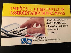 impot-comptabilite a partir de 20$ West Island Greater Montréal image 1