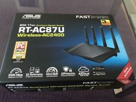 Asus wireless AC2400 superfast modem-in the box hardly used to transform your broadband speed