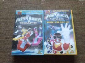 Power Rangers VHS x2