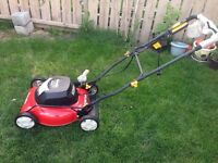 """LAWN MOVER - HOMELITE 12V ELECTRIC 18""""- Almost New"""