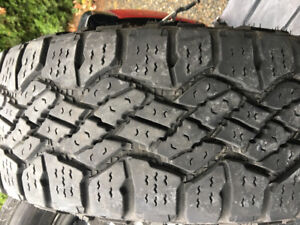 Goodyear Wrangler Duratrac Snow All-Terrrain tires 245/70/17