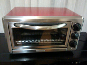 KitchenAid red toaster oven