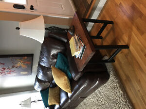 Rustic finished end tables