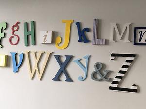 Handmade wooden alphabet set St. John's Newfoundland image 4